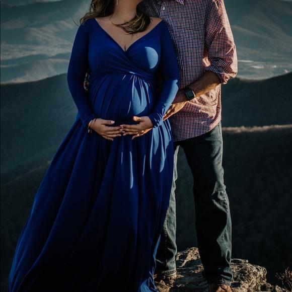 613a3575450 Dresses   Skirts - Royal Blue Maternity Portrait Gown
